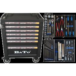 BATO Værktøjsvogn 7 skuffer 60 dele. 9107-60