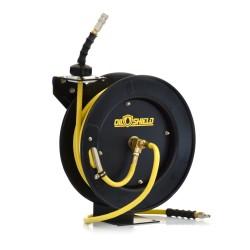 "BluBird Oil Shield luftslange opruller. 3/8"" - 10mm x 15 mtr. Gul - BATO 74161"