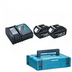 Batteripakke 18V m. 2 stk 3,0Ah batterier og 1 x lader - Makita 196693-0