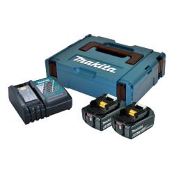 Batteripakke 18V m. 2 stk 6,0Ah batterier 1 x lynlader - Makita 198116-4