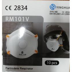 Støvmaske med ventil FFP2 CE2834  10 pak. RM101V