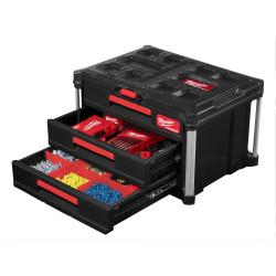 Milwaukee packout system med 3 skufffer 4932472130