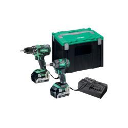 Hikoki 18v værktøjssæt KC18DBDL / DS18DBSL(s) + WH18DBDL2 med 2 stk. 5,0ah batterier 68000540