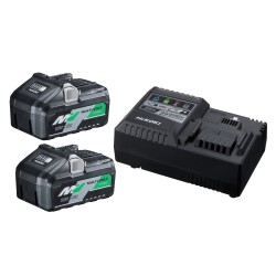 Hikoki multivolt batteripakke 2xBSL36B18 4,0/8,0Ah + UC18YSL3 68020012