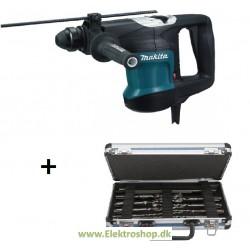 Bore-/ mejselhammer SDS-plus 850W med bor-/mejselsæt - Makita HR3200C
