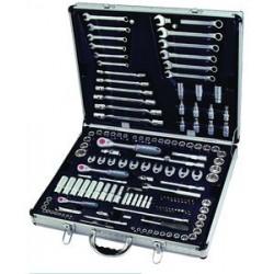 Værktøjssæt i metalkuffert - 148 dele - B-S1148