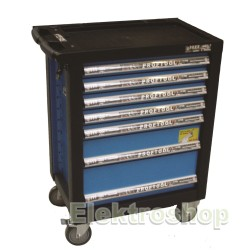 Bato Værkstedsvogn Standard - 7 skuffer - m/værktøjs ophængspanel - BaTo B-TC9139