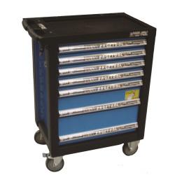 Værkstedsvogn Standard - 7 skuffer - m/værktøjs ophængspanel - BaTo B-TC9139