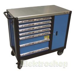 Bato Værktøjsvogn XXL – 7 skuffer/skab m/værktøjs ophængs panel - BaTo B-TC9149