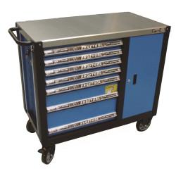 Værktøjsvogn XXL – 7 skuffer/skab m/værktøjs ophængs panel - BaTo B-TC9149