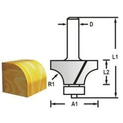 Makita rundingsfræser m.leje 25,4mm D-48387