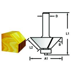 Makita kant/ fasfræser m. leje 25,4mm D-48658