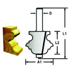 Makita profilfræser m. leje 34,9mm D-48860