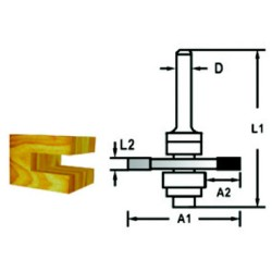 Makita not-fer fræser 2,5mm 3-skærs D-48957