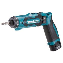 Skruemaskine / Knækskruetrækker 7,2V m. 2 stk 1,5Ah batterier - Makita DF012DSE