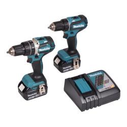 Makita kombo kit DLX2305TJ m. 2x18V 5,0Ah batterier