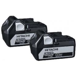 18V Batteripakke 18V m. 2 stk 5,0Ah batterier - Hitachi 60020007
