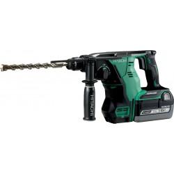 Borehammer SDS-plus uden udsugning kulfri 36V m. 2 stk 6,0Ah batterier - Hitachi DH36DBML
