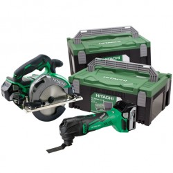Værktøjssæt kulfri med multicutter og rundsav - Hitachi 60000520