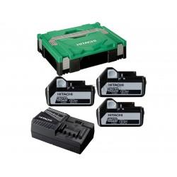 Batteripakke 18V m. 3 stk 5,0Ah batterier og lader - Hitachi 80022