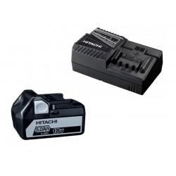 Batteripakke m. 1 stk 18V 5,0Ah batteri og 1 x lader - Hitachi 60020005