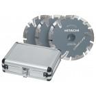 Diamantskivesæt 125mm 3 stk. longlife - Hitachi 60320030