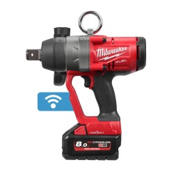 "Milwaukee M18ONEFHIWF1-802X slagnøgle 1"" ONE 2033/2400NM 2x8,0Ah batterier 4933459733"