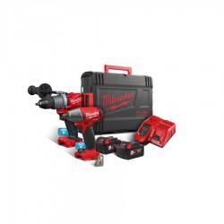 Milwaukee M18ONEPP2B2-502X powerpack m/2 18V maskiner 2X5,0Ah batterier 4933464595