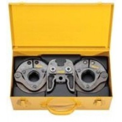 Presstangssæt til radialpresse med mellemtang og 2 pressetænger i stålkasse - REMS 572060