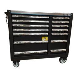 BATO XXL Værktøjsvogn med 14 skuffer med 506 dele værktøj i sort 9146-506