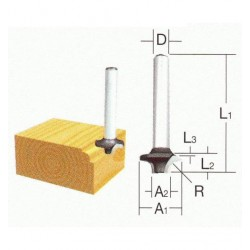 Radiusfræse jern 6mm - Makita D-09357