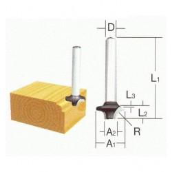 Radiusfræse jern 6mm - Makita D-09525