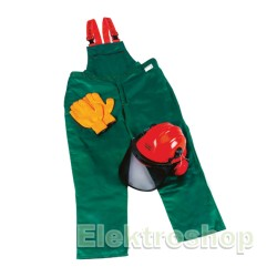 Makita skovsæt med Overall kl. 1, Handsker og Hjelm med visir og høreværn str. M 988001630