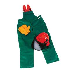 SafetySæt: Overall kl. 1, Handsker og Hjelm med visir og høreværn - Makita SafetySæt