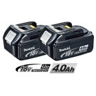 Batteri BL1840 18V 4,0Ah LI-ION 2 stk - Makita 196405-1