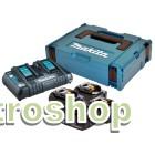 Batteripakke 18V m. 4 stk BL1850B 5,0Ah batterier m. indikator og 1 x lynlader med usb - Makita 197626-8