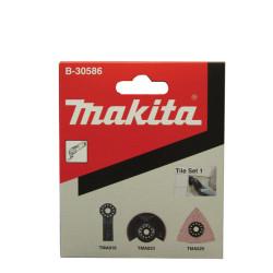 Flisesæt m/3 dele til multicutter - Makita B-30586