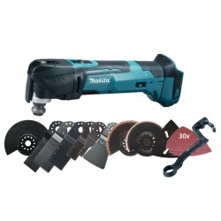 Multicutter 18V akku tool only m. tilbehørssæt - Makita DTM51ZJX3
