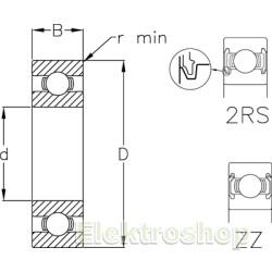 Enradet cylindrisk rulleleje - NU308 ET d=40 D=90 B=23