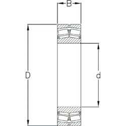 Sfærisk rulleleje 21316 EAKE4 - d=80 D=170 B=39