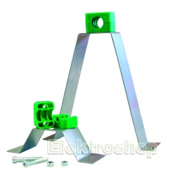 Beslag til rørbæring rustfri 55 mm 401436
