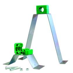 Beslag til rørbæring rustfri 100 mm 401439