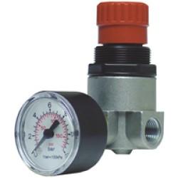 """Trykregulator 1/4"""" m. manometer (u/kobling) højre drejning - Reno"""