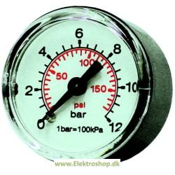 Manometer til luftpåfylder, gevind i side - Reno 4421