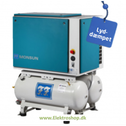 Industri stempel kompressor Monsun silent 5,5hk 700/90+90 - Reno PC70090+90-S4RE