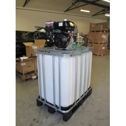 Algebehandling - Højtryksrenser med lanse - tagrenser, solcelle renser på 800L palletank - Reno m/ elstart 220-18
