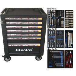 Bato Værktøjsvogn 7 skuffer 132 dele. 9107-132